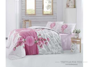 Постельное белье RANFORCE ROSEN (Евро) - (50x70 см  - 2 шт.) - Розовый