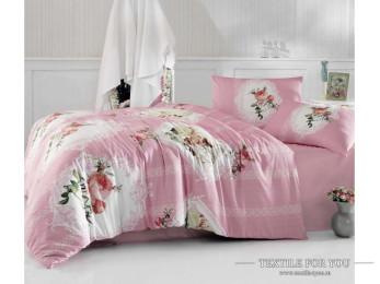 Постельное белье RANFORCE ULYA (Евро) - (50x70 см  - 2 шт.) - Розовый