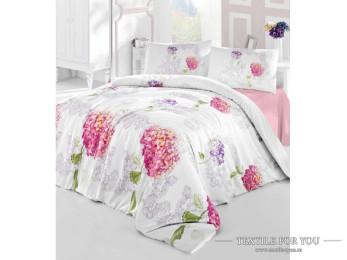 Постельное белье RANFORCE HIDRA (Евро) - (50x70 см  - 2 шт.) - Розовый