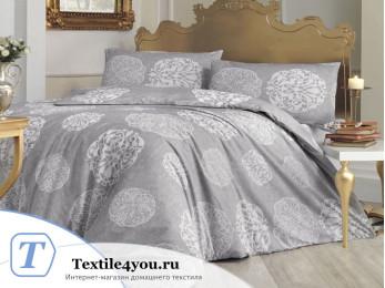 Постельное белье RANFORCE BELLO (Евро) - (50x70 см  - 2 шт.) - Серый