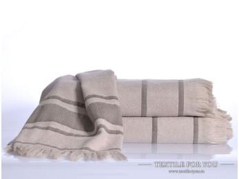 Полотенце бамбуковое IRYA DURU-SPA - 50x90 см (1 шт.) - Светло-бежевый