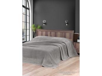 Простынь махровая KARNA MELEN 160x220 см Серый