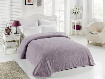 Простынь махровая TWO DOLPHINS  PUKET (200x220 см) - Фиолетовый