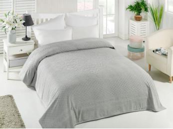 Простынь махровая TWO DOLPHINS  IBIZA (200x220 см) - Серый