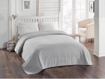 Простынь махровая TWO DOLPHINS  PANAMA (200x220 см) - Серый
