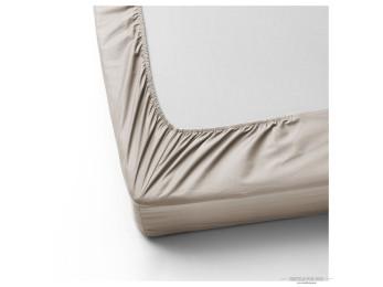 Простынь на резинке DO&CO LOFT Сатин (160x200 см + 2 наволочки) - Серо-коричневый