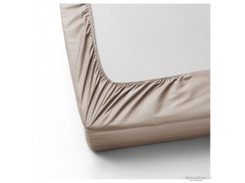 Простынь на резинке DO&CO LOFT Сатин (160x200 см + 2 наволочки) - Капучино