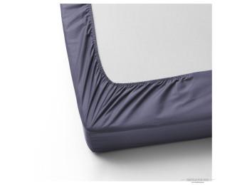 Простынь на резинке DO&CO LOFT Сатин (160x200 см + 2 наволочки) - Светло-синий