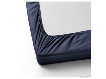 Простынь на резинке DO&CO LOFT Сатин (160x200 см + 2 наволочки) - Синий
