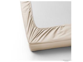 Простынь на резинке DO&CO LOFT Сатин (160x200 см + 2 наволочки) - Кремовый