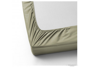 Простынь на резинке DO&CO LOFT Сатин (160x200 см + 2 наволочки) - Тёмно-зелёный