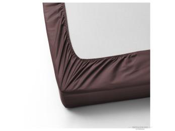 Простынь на резинке DO&CO LOFT Сатин (160x200 см + 2 наволочки) - Шоколадный