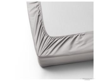 Простынь на резинке DO&CO LOFT Сатин (160x200 см + 2 наволочки) - Серый