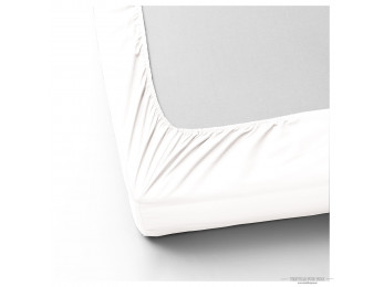 Простынь на резинке DO&CO LOFT Сатин (180x200 см + 2 наволочки) - Белый