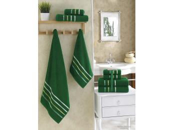Набор махровых полотенец KARNA BALE  (4 шт.) - Зеленый