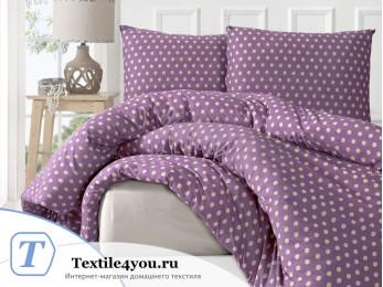 Постельное белье трикотажное KARNA YUMSE (Евро) Фиолетовый