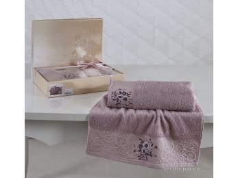Набор махровых полотенец KARNA VIOLA (2 шт.) - Сиреневый