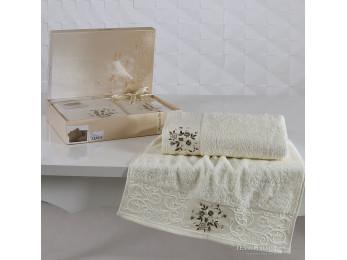 Набор махровых полотенец KARNA VIOLA (2 шт.) - Кремовый