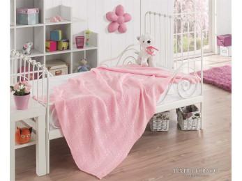 Плед вязаный детский KARNA SILVIA (100x150 см) - Розовый