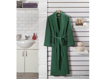 Халат махровый (унисекс) KARNA GENOVA (L) - Зеленый