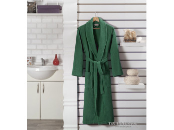 Халат махровый (унисекс) KARNA GENOVA (XL) - Зеленый