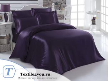 Постельное белье KARNA ARIN Атласный шелк (Евро) - Фиолетовый