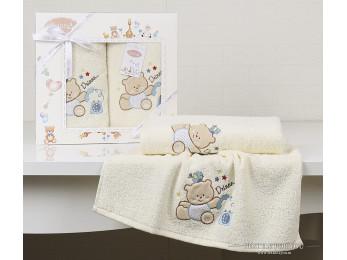 Комплект полотенец детский KARNA BAMBINO-BEAR (2 шт.) - Кремовый