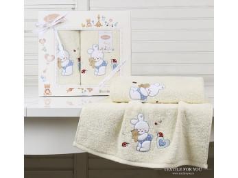 Комплект полотенец детский KARNA BAMBINO-BUNNY (2 шт.) - Кремовый