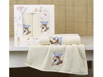 Комплект полотенец детский KARNA BAMBINO-TEDDY (2 шт.) - Кремовый