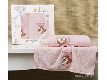 Комплект полотенец детский KARNA BAMBINO-TEDDY (2 шт.) - Розовый
