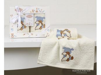 Комплект салфеток детский KARNA BAMBINO (30x50 см - 2 шт.) - Голубой (V1)