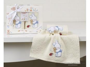 Комплект салфеток детский KARNA BAMBINO (30x50 см - 2 шт.) - Голубой (V3)