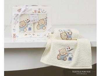 Комплект салфеток детский KARNA BAMBINO (30x50 см - 2 шт.) - Голубой (V4)