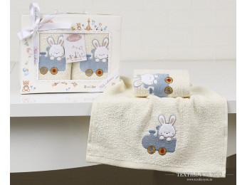 Комплект салфеток детский KARNA BAMBINO (30x50 см - 2 шт.) - Голубой (V5)