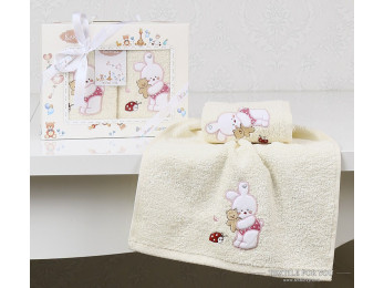 Комплект салфеток детский KARNA BAMBINO (30x50 см - 2 шт.) - Розовый (V3)