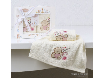 Комплект салфеток детский KARNA BAMBINO (30x50 см - 2 шт.) - Розовый (V4)