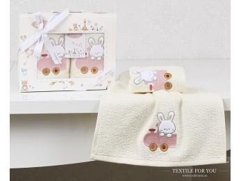 Комплект салфеток детский KARNA BAMBINO (30x50 см - 2 шт.) - Розовый (V5)