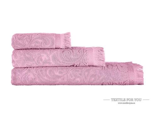 Полотенце махровое KARNA ESRA - 90x150 см (1 шт.) Розовый