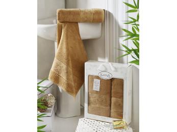 Набор бамбуковых полотенец KARNA PANDORA  (2 шт.) - Горчичный
