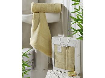 Набор бамбуковых полотенец KARNA PANDORA  (2 шт.) - Золотистый