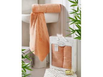 Набор бамбуковых полотенец KARNA PANDORA  (2 шт.) - Коралловый