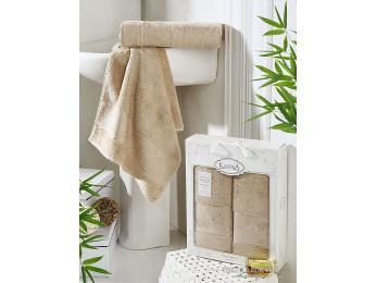 Набор бамбуковых полотенец KARNA PANDORA  (2 шт.) - Кофейный