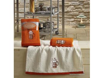 Кухонное полотенце вафельное KARNA LEMON - 45x65 см (2 шт.) - Оранжевый V2