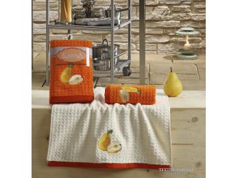 Кухонное полотенце вафельное KARNA LEMON - 45x65 см (2 шт.) - Оранжевый V3