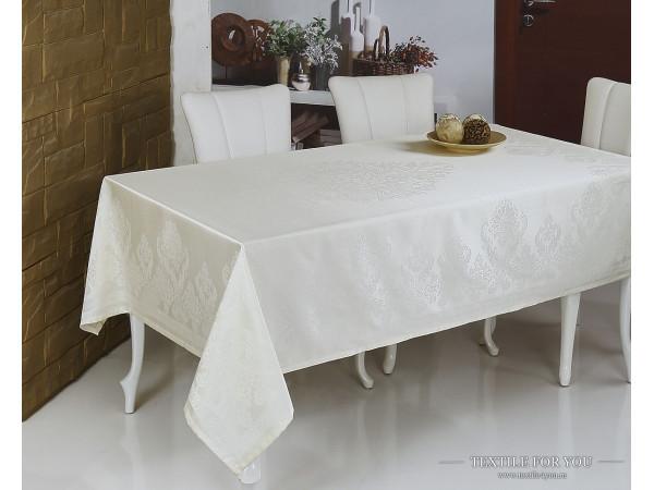 Скатерть MONALIT BESTA (160x220 см) - Кремовый