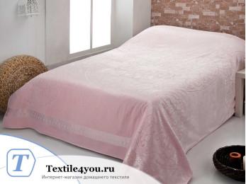 Простынь бамбуковая c велюром PUPILLA OTTOMON (200x220 см) - Розовый