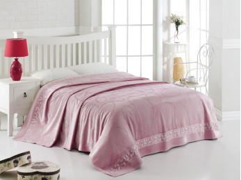 Простынь c велюром PUPILLA STONES (200x220 см) - Розовый
