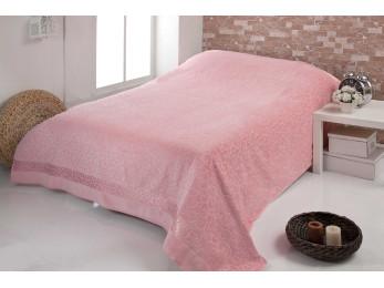 Простынь бамбуковая c велюром PUPILLA BUSE (200x220 см) - Розовый