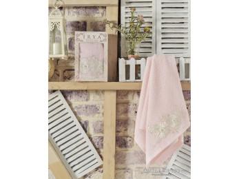 Полотенце в подарочной коробке IRYA FLEUR - 50x90 см (1 шт.) - Розовый