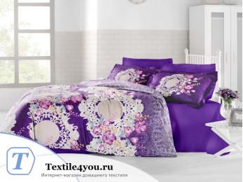 Постельное белье ALTINBASAK ELVIN Сатин (Евро) - Фиолетовый